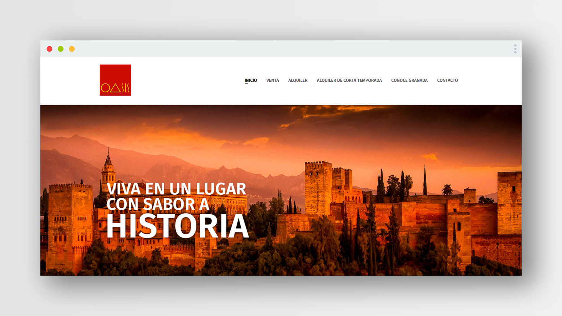 Website, CMS and custom webapp for Inmobiliaria Oasis in Granada